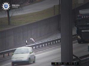 Viktoria auf A7 Quelle Polizei Hamburg