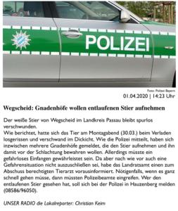 erster Bericht bei PASSAU24.de am 01.04.2020