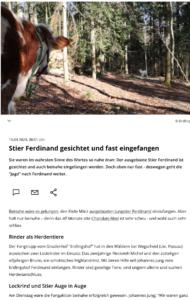 Der Bayerische Rundfunk berichtet über die (damals erst fast-erfolgreiche) Einfangaktion