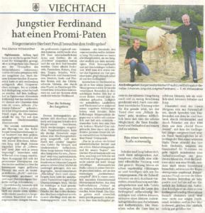 Artikel im Bayerwald-Boten über Herbert Preuß' ersten Besuch auf dem Erdlingshof