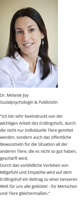Testimonial von Melanie Joy